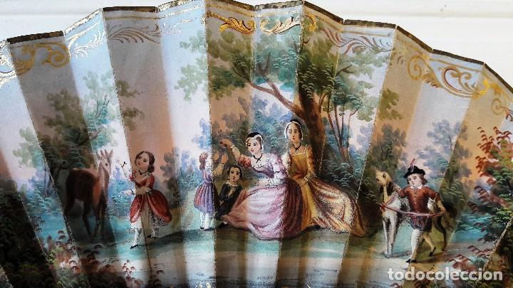 Antigüedades: Abanico isabelino de niña. Siglo XIX - Foto 2 - 113858991