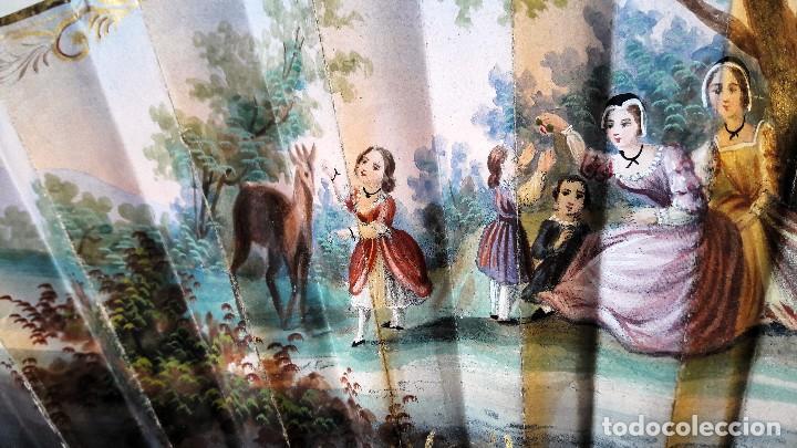 Antigüedades: Abanico isabelino de niña. Siglo XIX - Foto 6 - 113858991