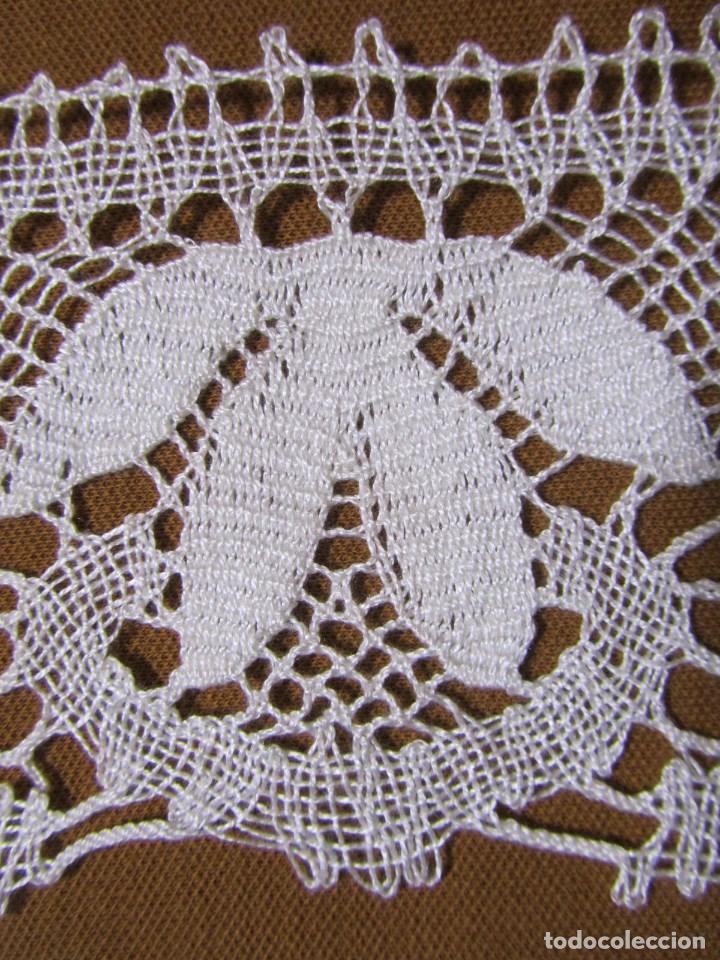 Antigüedades: Cenefa o puntilla en encaje de bolillos 5 metros - Foto 5 - 113859247