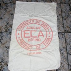 Antigüedades: SACO DE AZUCAR ECA PRODUCTO DE CUBA AÑOS 50/60. Lote 118312078