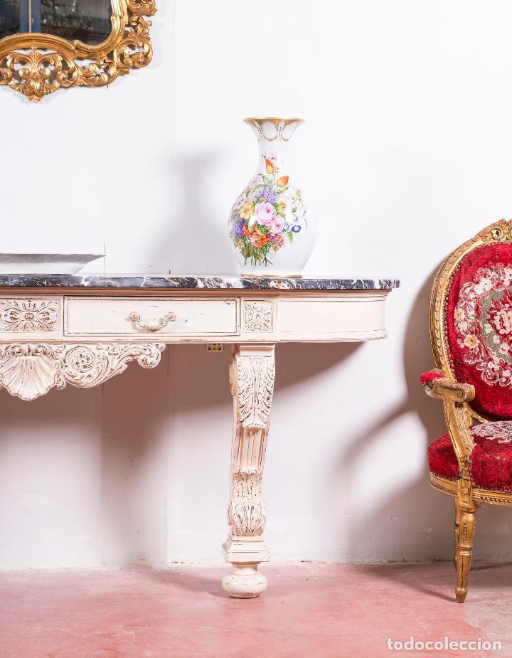Antigüedades: Consola Antigua Restaurada Virginie - Foto 2 - 113896727