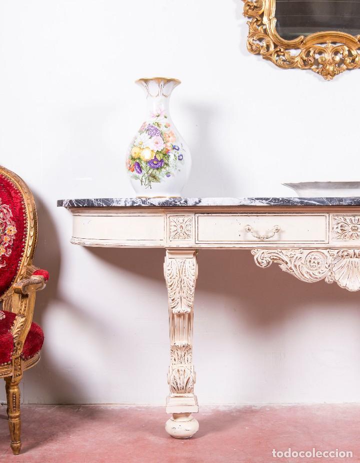 Antigüedades: Consola Antigua Restaurada Virginie - Foto 4 - 113896727