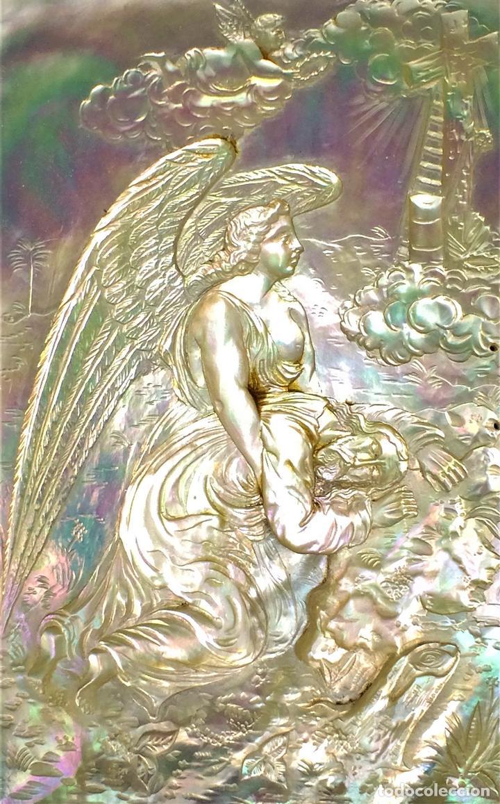 COLECCIÓN DE CUBIERTAS DE MISAL. NÁCAR. BAQUELITA. GUTAPERCHA. ESPAÑA. SIGLO XIX (Antigüedades - Religiosas - Ornamentos Antiguos)