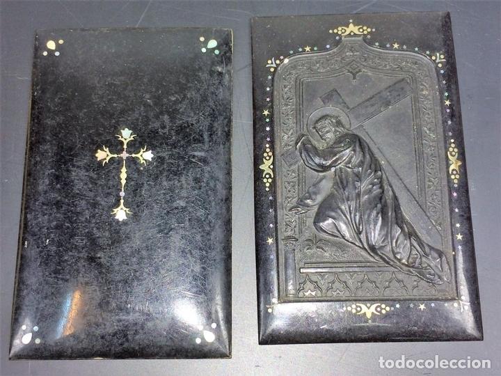Antigüedades: COLECCIÓN DE CUBIERTAS DE MISAL. NÁCAR. BAQUELITA. GUTAPERCHA. ESPAÑA. SIGLO XIX - Foto 8 - 113898623