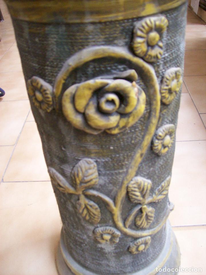 Antigüedades: MACETERO TERRACOTA MODERNISTA. AÑOS 30. CON PIE - Foto 2 - 113907239