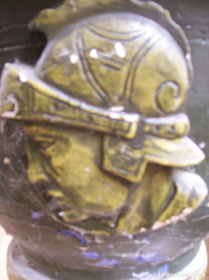 Antigüedades: MACETERO TERRACOTA MODERNISTA. AÑOS 30. CON PIE - Foto 3 - 113907239