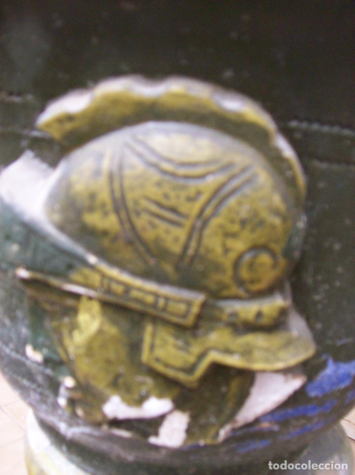 Antigüedades: MACETERO TERRACOTA MODERNISTA. AÑOS 30. CON PIE - Foto 5 - 113907239