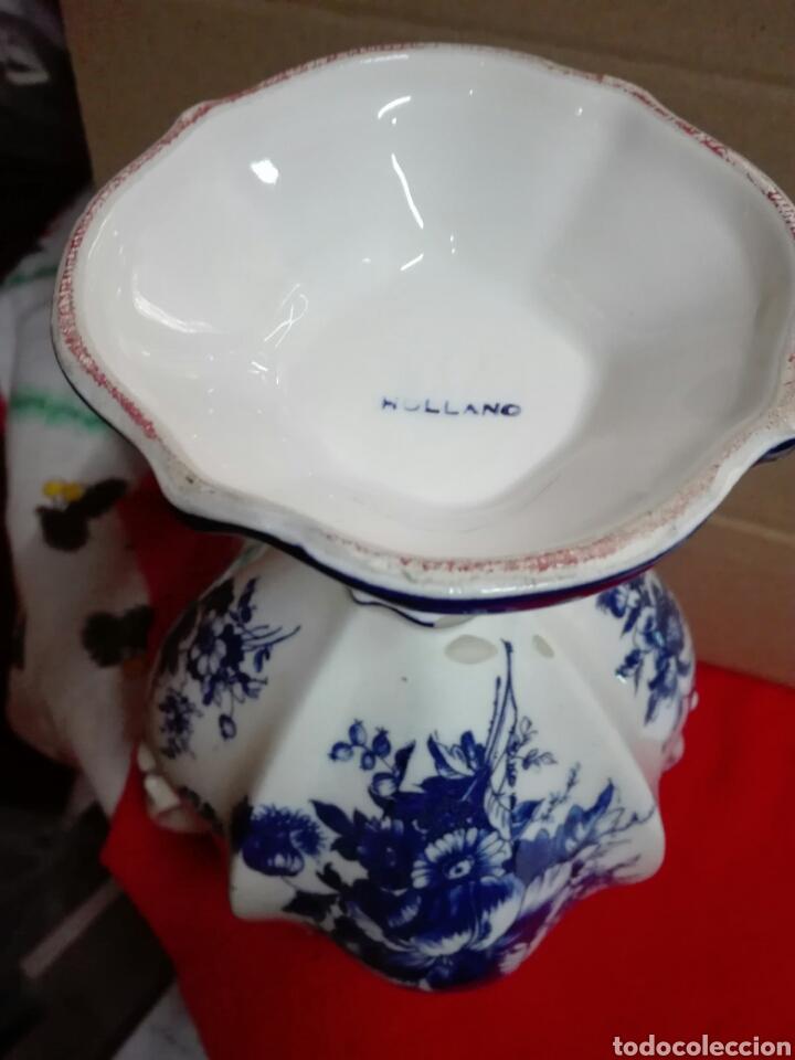 Antigüedades: Jarrón cerámica holandés 26 cm - Foto 2 - 113907687
