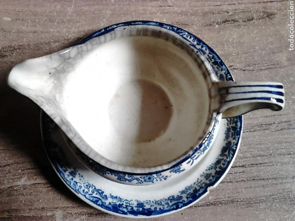 Antigüedades: Antigua pieza de cerámica , salsera,pickman sa sevilla,cartuja,regla - Foto 4 - 113919687