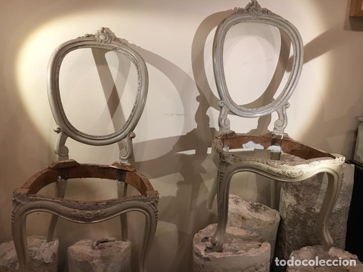 PAREJA DE SILLAS FRANCESAS SIGLO XIX (Antigüedades - Muebles Antiguos - Sillas Antiguas)