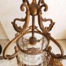 Antigüedades: FAROL DE BRONCE. Lote 113951511