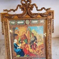 Antigüedades: PORTA FOTOS DE BRONCE. Lote 113952483