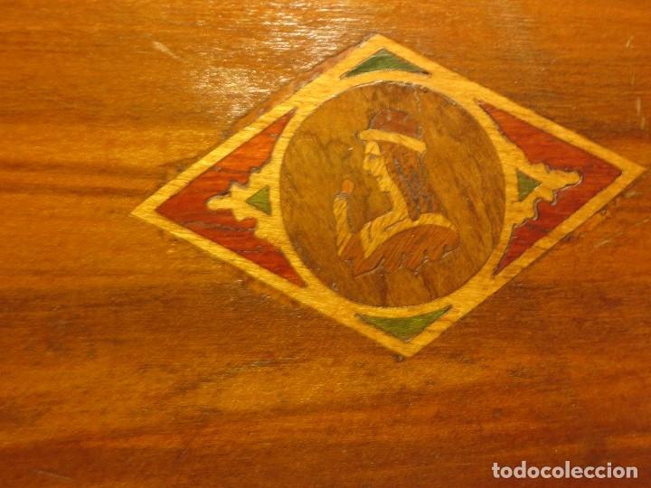 Antigüedades: ANTIGUA CAJA NECESER MADERA DE CAOBA CON INCRUSTACIONES MARQUETERIA PRINCIPIOS DE SIGLO - Foto 2 - 90074660