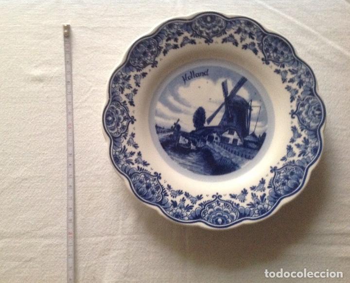 Antigüedades: PLATO DE PORCELANA DELFT DE HOLANDA - Foto 3 - 113962859