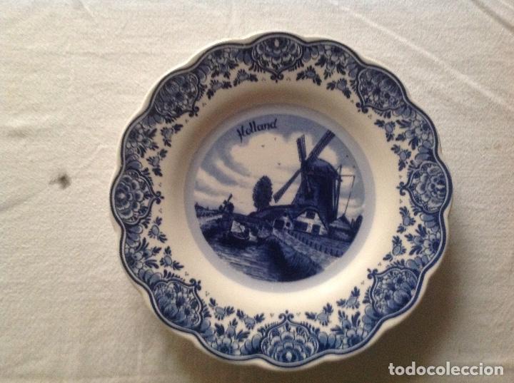 PLATO DE PORCELANA DELFT DE HOLANDA (Antigüedades - Porcelana y Cerámica - Holandesa - Delft)