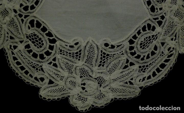 Antigüedades: ANTIGUO TAPETE DE ENCAJE S.XIX - Foto 2 - 113965323