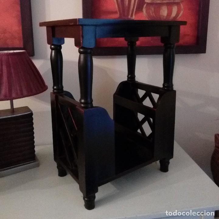 MUEBLE CHINO LACADO - MESA AUXILIAR BOTELLERO - 64 X 48 CM (Antigüedades - Muebles Antiguos - Auxiliares Antiguos)