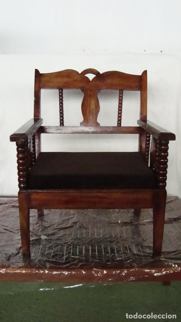 SILLÓN CASTELLANO (Antigüedades - Muebles Antiguos - Sillones Antiguos)