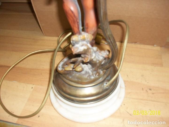 Antigüedades: ANTIGUA LAMPARA CON BASE DE MARMOL - Foto 6 - 114005539