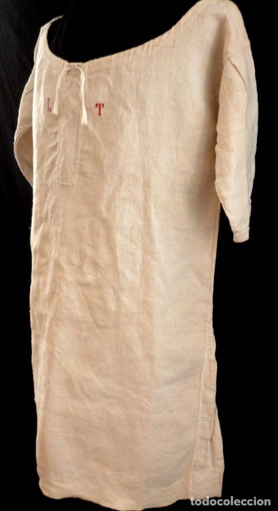 Antigüedades: ANTIGUA CAMISA - CAMISOLA DE LINO PARA CABALLERO S. XIX - Foto 4 - 114011719