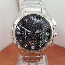 Relojes - Viceroy: RELOJ CABALLERO DE ACERO VICEROY CRONOGRAFO CON CALENDARIO ENTRE LAS CUATRO Y CINCO, CORREA ACERO . Lote 114004571