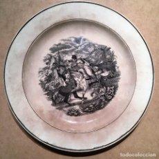 Antigüedades: FUENTE DE CARTAGENA CON ESCENA DE LA TOMA DEL ESTANDARTE, HAZAÑA DEL CABO MUR. Lote 114016495
