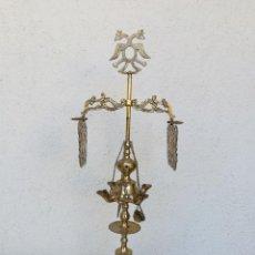 Antigüedades: ESTUPENDA LAMPARA DE ACEITE 4 LUCES. Lote 114026087