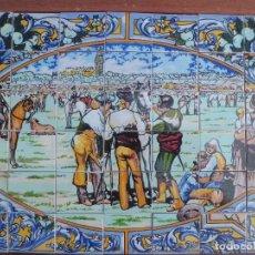 Antigüedades: BANDEJA DE AZULEJOS FERIA DEL ROCIO. Lote 114041331