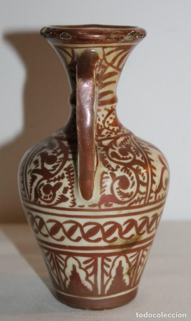 Antigüedades: JARRÓN EN CERÁMICA DE REFLEJOS METÁLICOS DE MANISES - PRINCIPIOS DEL SIGLO XX - Foto 6 - 114047303