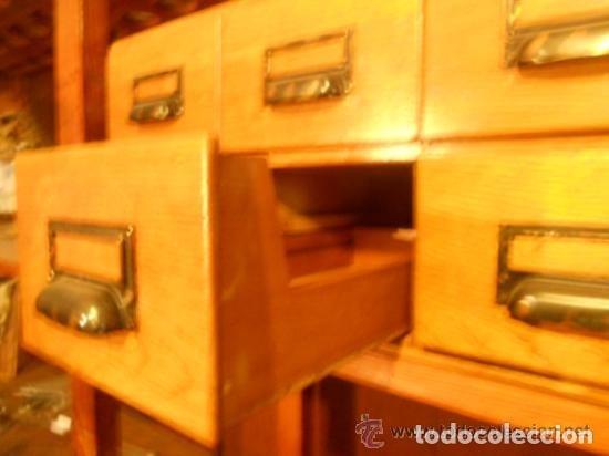 Antigüedades: Mueble Archivador Roble americano. 6 cajones. Fichero. Marca WA LIMP Barcelona - Foto 3 - 114050087