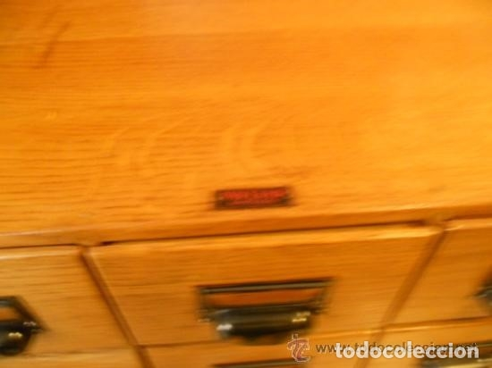 Antigüedades: Mueble Archivador Roble americano. 6 cajones. Fichero. Marca WA LIMP Barcelona - Foto 5 - 114050087