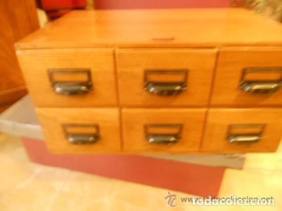 Antigüedades: Mueble Archivador Roble americano. 6 cajones. Fichero. Marca WA LIMP Barcelona - Foto 6 - 114050087