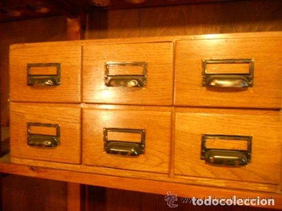 Antigüedades: Mueble Archivador Roble americano. 6 cajones. Fichero. Marca WA LIMP Barcelona - Foto 2 - 114050087