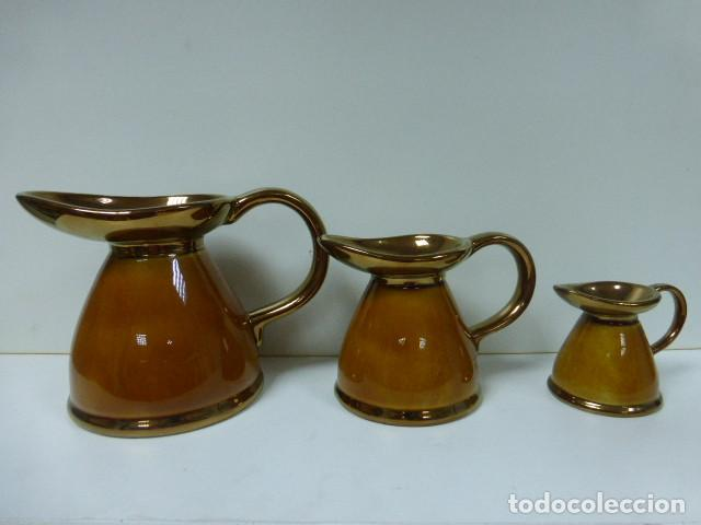 JUEGO 3 JARRAS ANTIGUAS LORD NELSON 1974-PERFECTAS (Antigüedades - Porcelanas y Cerámicas - Inglesa, Bristol y Otros)