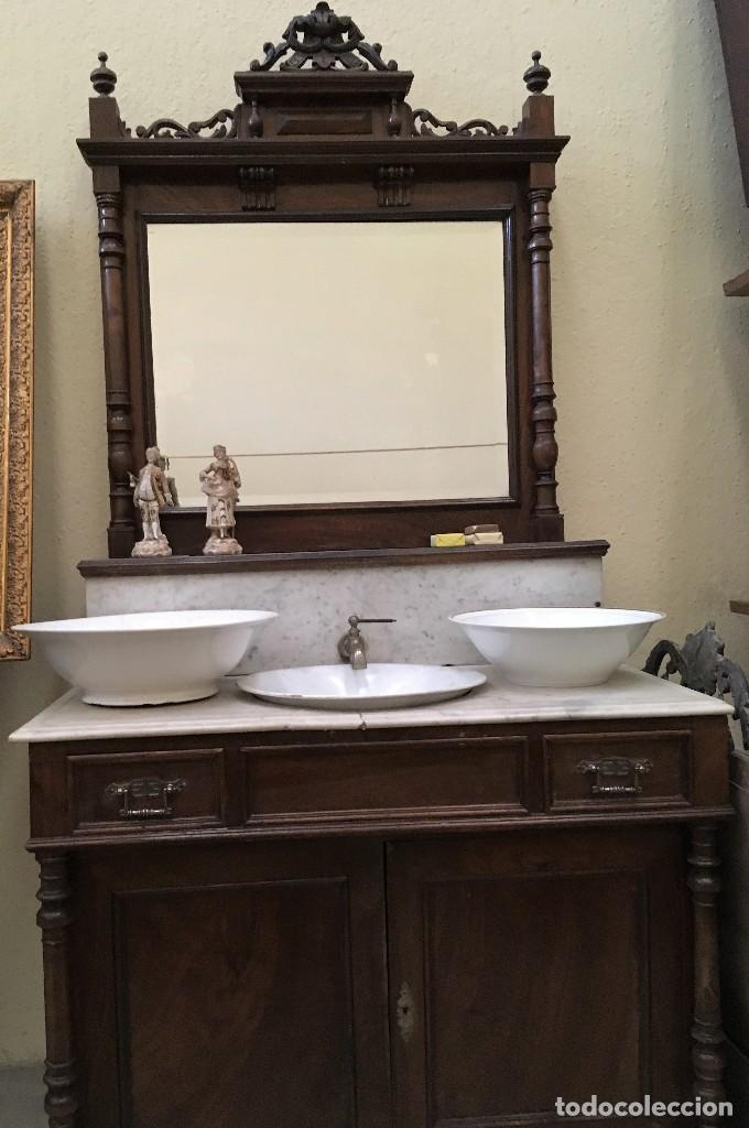 Mueble ba o comprar muebles auxiliares antiguos en - Muebles antiguos para banos ...
