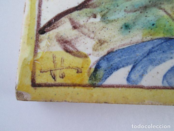 Antigüedades: AZULEJO CERAMICA ALCORA - PRIMER CONGRESO MEDICO DEL SUR - MALAGA 1950 - PAGET MARUNY - 13,5X13,5 - Foto 2 - 114059967