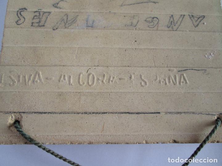 Antigüedades: AZULEJO CERAMICA ALCORA - PRIMER CONGRESO MEDICO DEL SUR - MALAGA 1950 - PAGET MARUNY - 13,5X13,5 - Foto 3 - 114059967