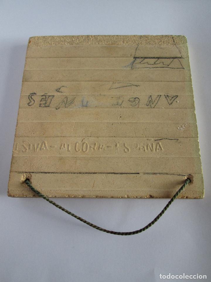 Antigüedades: AZULEJO CERAMICA ALCORA - PRIMER CONGRESO MEDICO DEL SUR - MALAGA 1950 - PAGET MARUNY - 13,5X13,5 - Foto 4 - 114059967