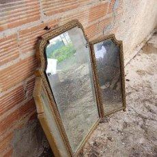 Antigüedades: ESPEJO TRIPTICO MARCO EN BRONCE . Lote 114066827