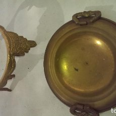 Antigüedades: ANTIGUO QUEMA INCIENSO, CENICERO BRONCE CON BASE Y PATAS DECORADAS GRABADAS DECORACION, COLECCION. Lote 114069999