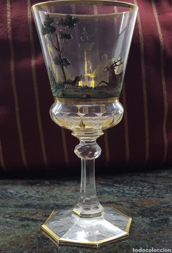 BOHEMIA.PRECIOSA COPA S XIX (Antigüedades - Cristal y Vidrio - Bohemia)