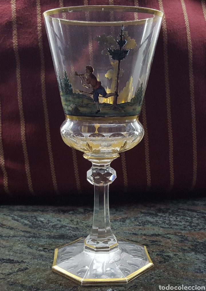 Antigüedades: Bohemia.Preciosa copa S XIX - Foto 2 - 114078731