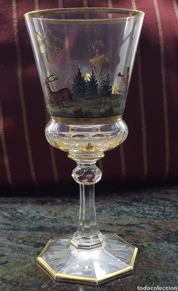 Antigüedades: Bohemia.Preciosa copa S XIX - Foto 3 - 114078731