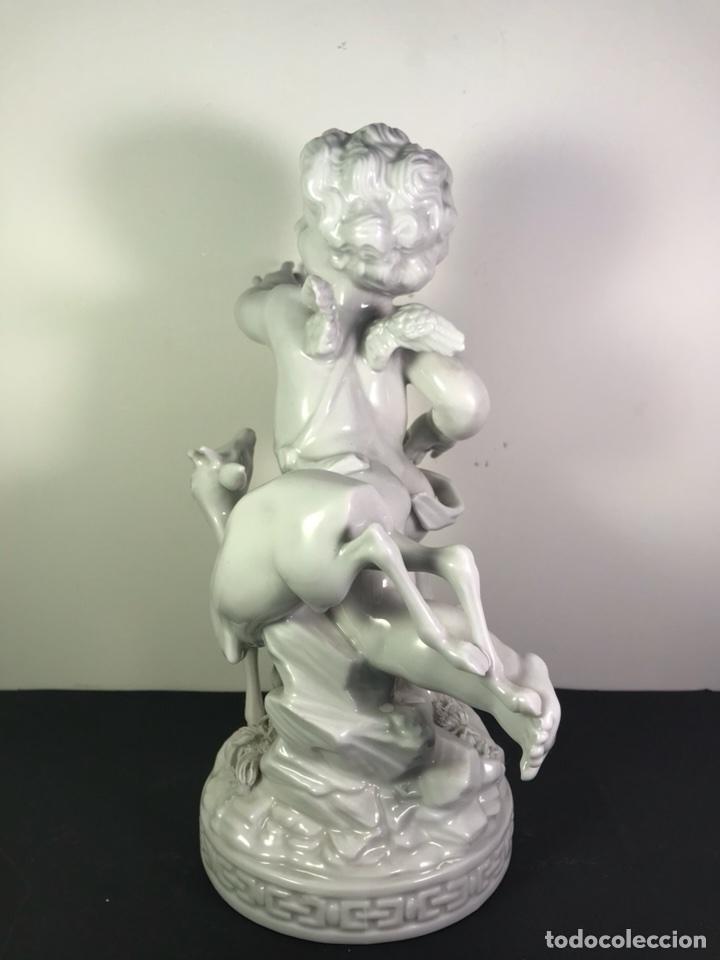 Antigüedades: Figura Porcelana- Angelito Cervatillo- Algora- 24 cm - Foto 5 - 114093930