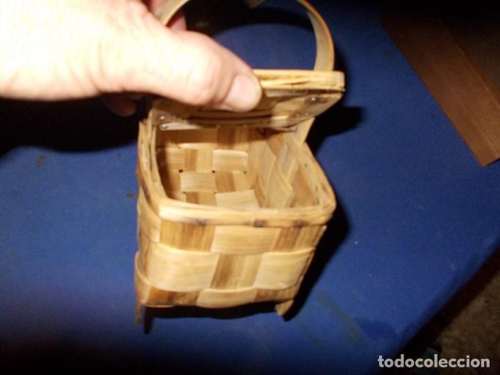 Antigüedades: cestita con dos tapaderas - Foto 2 - 114105727