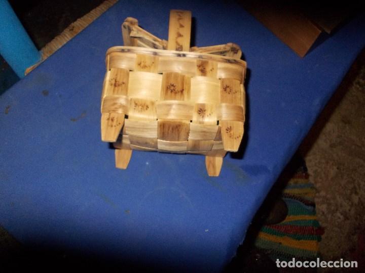 Antigüedades: cestita con dos tapaderas - Foto 3 - 114105727