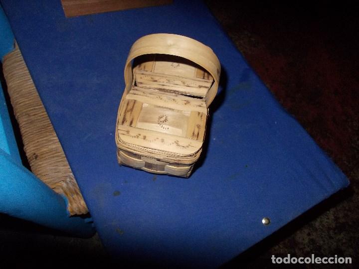 Antigüedades: cestita con dos tapaderas - Foto 4 - 114105727