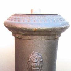 Antigüedades: ESTUFA DE HIERRO PARA LEÑA O CARBON. Lote 114110191