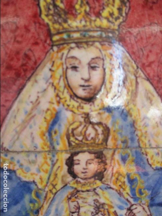 RETABLO CERAMICO VIRGEN DE LOS REYES (AZULEJOS) (Antigüedades - Porcelanas y Cerámicas - Triana)