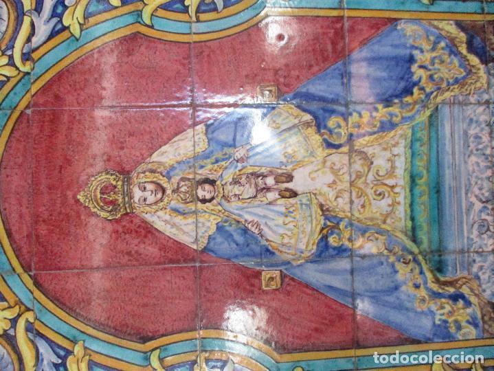 Antigüedades: Retablo ceramico Virgen de los Reyes (azulejos) - Foto 3 - 114127403